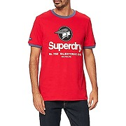 Superdry cl ac ringer tee t-shirt, rouge...