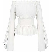 Chemise femme manches longues epaules denudees...