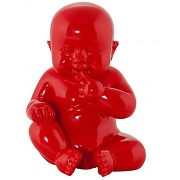 Statue little baby rouge