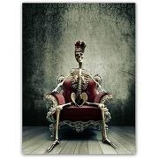 Tableau rock squelette king l.55 x h.80 cm