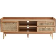 Bombong - meuble tv 1 porte 2 tiroirs en bois...