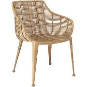 Amira - fauteuil en rotin et métal