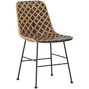 Kitty - chaise en métal et rotin