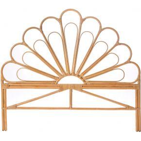 Singaraja - tête de lit design en rotin 180cm