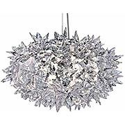 Kartell bloom, lampe à suspension, petit, cristal