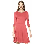 Lark & ro 3/4 sleeve knit fit and flare dress...