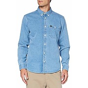 Lee riveted shirt haut, faded blue_03, l homme