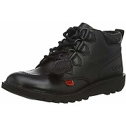 Kickers mid quilt black leather, chaussures....