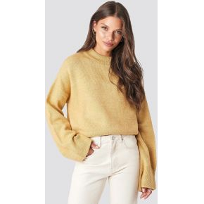 Na-kd wide sleeve round neck knitted sweater -...