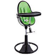 Chaise haute fresco chrome black/gala green bloom