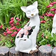Sungmor adorable statue de chat assis pour...