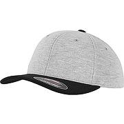 Flexfit double jersey 2-tone cap, gry/blk, s/m