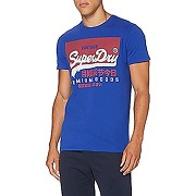Superdry vl o tee chemise casual, bleu...