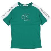 T-shirt calvin klein jeans garçon. vert. 4...