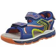Geox android boy, sandales bout ouvert, bleu...