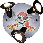 Elobra plafonnier pirate, bois, noir, a + +