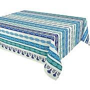 Vent du sud nappe enduite cuzco turquoise 160 x...