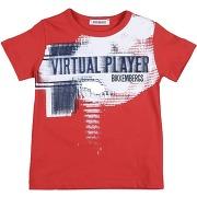 T-shirt bikkembergs garçon. rouge. 24 - 6...