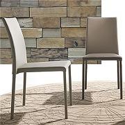 Chaise taupe design empilable amanda (lot de 4)