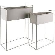 Essence - 2 cache-pots rectangulaire en métal