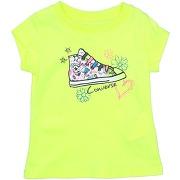 T-shirt converse fille. vert acide. 12 - 18 -...