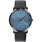 Montre certus 611053 - montre cuir noir certus...