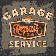 Tableau vintage garage repair service 50x50