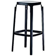 Tabouret steelwood - noir - hêtre noir - 66 cm