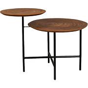Mathison - table basse en bois et métal