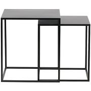 Ziva - 2 tables basses en métal