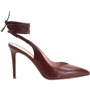 Leather lace-up pump escarpins 8 by yoox femme....
