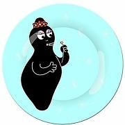 Assiette barbapapa petit jour paris - fond bleu