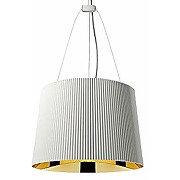 Kartell gè, lampe à suspension, blanc / or