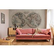 Papier peint panoramique gravure hemisphere