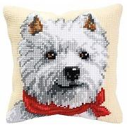 Vervaco kit coussin au point de croix un chien