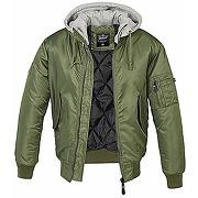 Brandit ma1 sweat hooded jacket, olive avec...