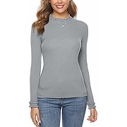 Sykooria pull femme col rond hiver chaud...