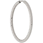 Maria black anneau alba 25mm en or blanc 14ct -...