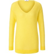 Le pull col v peter hahn jaune taille 48