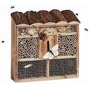 Relaxdays hôtel à insectes en bois à suspendre...