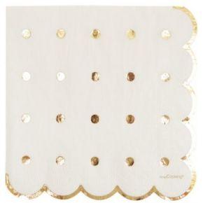 Serviette en papier scrapcooking x20 gold