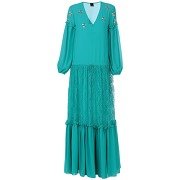 Robe longue pinko femme. vert. 40 livraison...