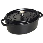 Staub cocotte en fonte, ovale 23 cm, 2,35 l, noir