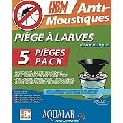 Hbm pack 5 pièges à larves aqualab...