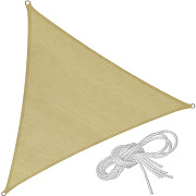 Tectake - voile d'ombrage triangulaire 5 m x 5...