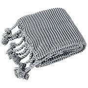 Eurofirany couverture tricotée en tricot gris...