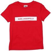 T-shirt karl lagerfeld garçon. rouge. 10...