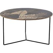Lac - table basse ronde en bois motif floral...