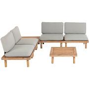 Manacas - salon de jardin 4 fauteuils et 2...