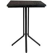 Maze - table de bar carrée en bois et métal...